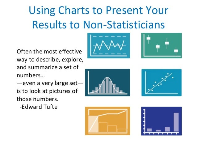 Using Charts to Present Your Results to Non-Statisticians Often the most effective way to describe, explore, and summarize...