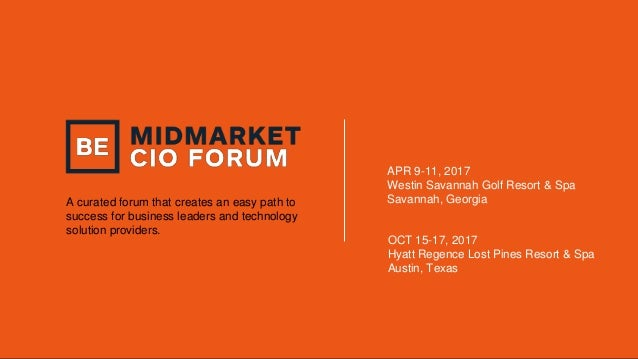 A curated forum that creates an easy path to success for business leaders and technology solution providers. APR 9-11, 201...