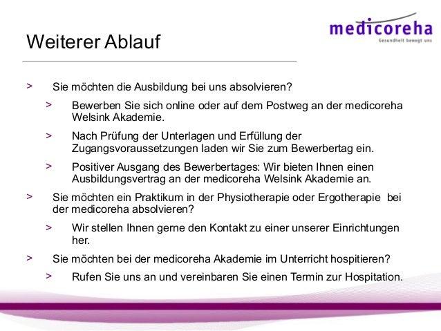 Medicoreha Welsink Akademie: Ausbildung Physiotherapie & Ergotherapie…