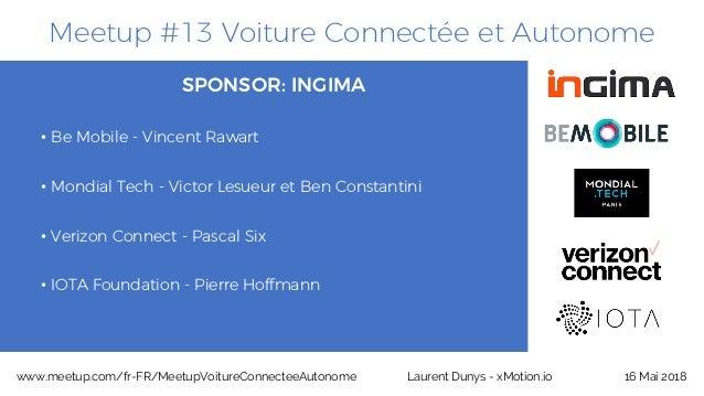 Meetup #13 Voiture Connectée et Autonome SPONSOR: INGIMA • Be Mobile - Vincent Rawart • Mondial Tech - Victor Lesueur et B...