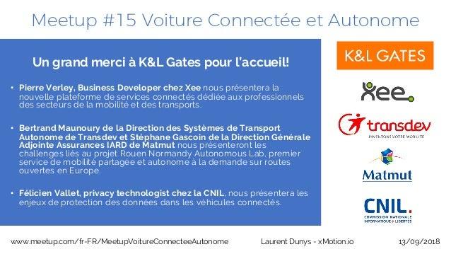 Meetup #15 Voiture Connectée et Autonome 13/09/2018www.meetup.com/fr-FR/MeetupVoitureConnecteeAutonome Laurent Dunys - xMo...