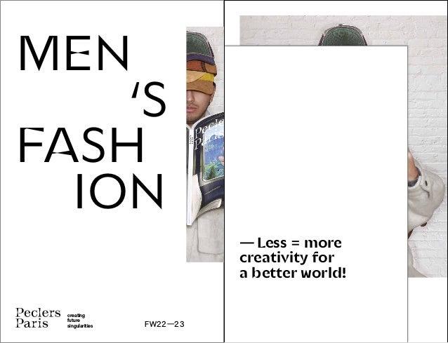 MEN'S FASHION TREND BOOK FW2223 PECLERSPARIS
