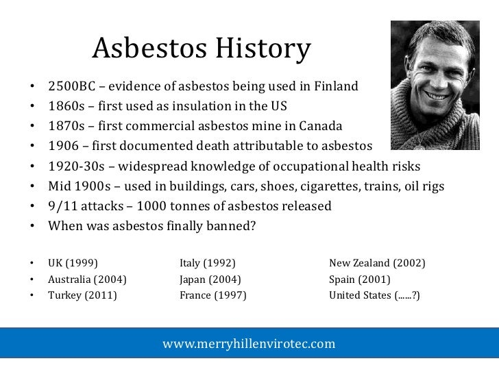 a history of asbestos hazard awareness in the us The united states government's role in the asbestos mess  the role of the united states government in the asbestos mess is  shows an awareness of the hazard.