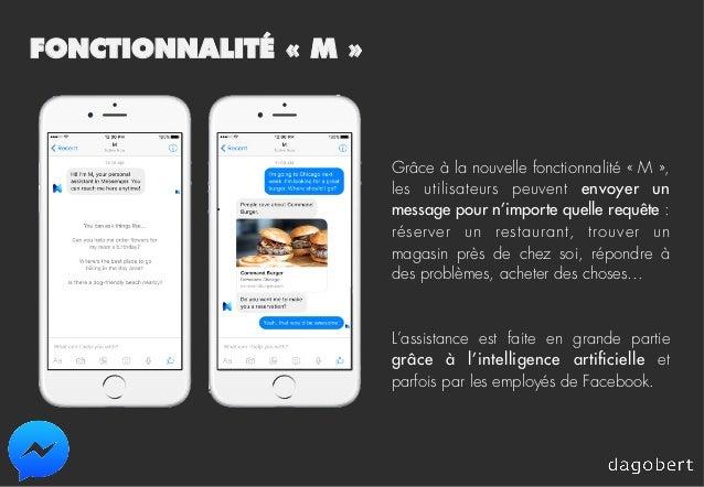 FONCTIONNALITÉ «M» Grâce à la nouvelle fonctionnalité «M», les utilisateurs peuvent envoyer un message pour n'importe ...