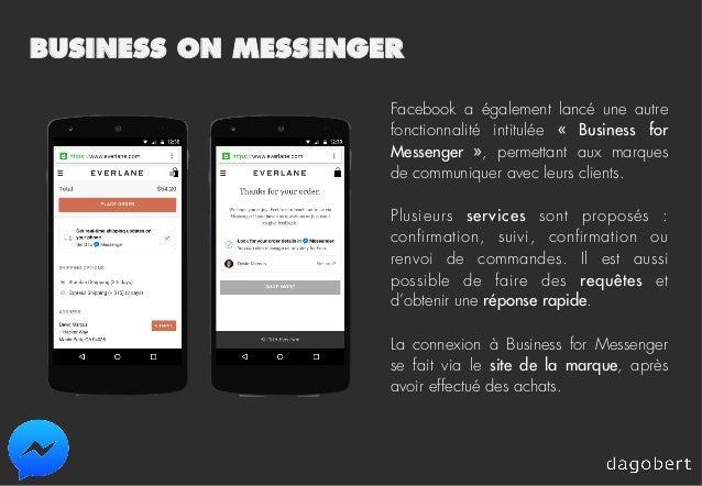 BUSINESS ON MESSENGER Facebook a également lancé une autre fonctionnalité intitulée « Business for Messenger », permetta...