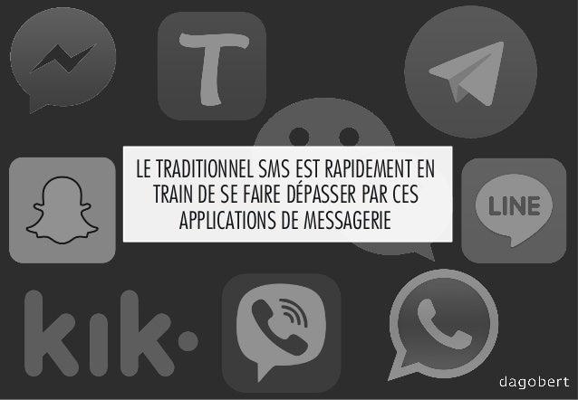 LE TRADITIONNEL SMS EST RAPIDEMENT EN TRAIN DE SE FAIRE DÉPASSER PAR CES APPLICATIONS DE MESSAGERIE