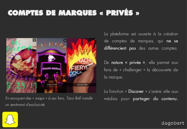 COMPTES DE MARQUES «PRIVÉS» La plateforme est ouverte à la création de comptes de marques, qui ne se différencient pas d...
