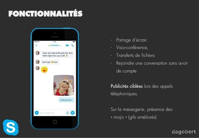 FONCTIONNALITÉS - Partage d'écran - Visio-conférence, - Transferts de fichiers - Rejoindre une conversation sans avoir...