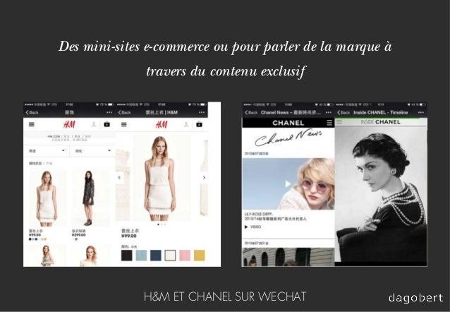 Des mini-sites e-commerce ou pour parler de la marque à travers du contenu exclusif H&M ET CHANEL SUR WECHAT