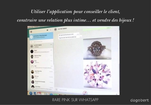 Utiliser l'application pour conseiller le client, construire une relation plus intime… et vendre des bijoux ! RARE PINK SU...
