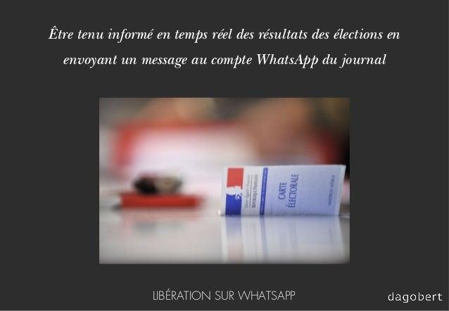 Être tenu informé en temps réel des résultats des élections en envoyant un message au compte WhatsApp du journal LIBÉRATIO...