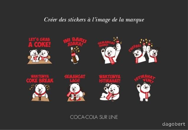 Créer des stickers à l'image de la marque COCA-COLA SUR LINE