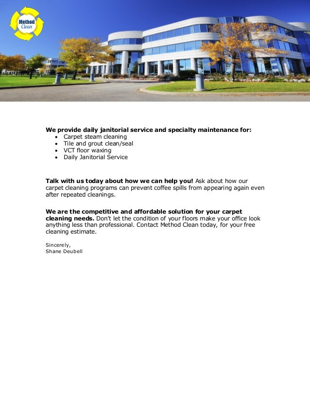 Sample Cleaning Service Sales Letter