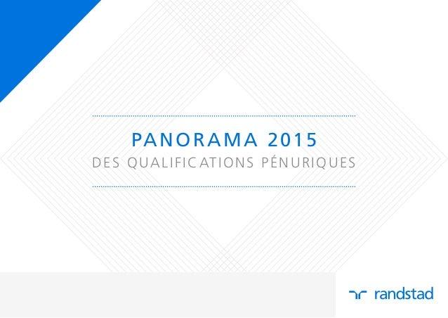 PANORAMA 2015 DES QUALIFICATIONS PÉNURIQUES