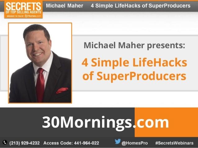 Michael Maher 4 Simple Lifehacks Of Superproducers