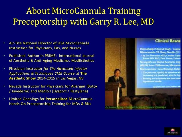 MicroCannula Training