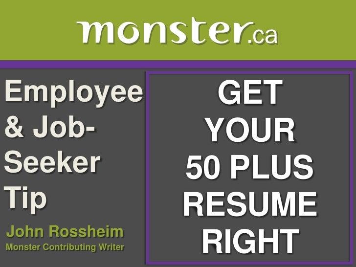Employee                        GET& Job-                         YOURSeeker                        50 PLUSTip            ...