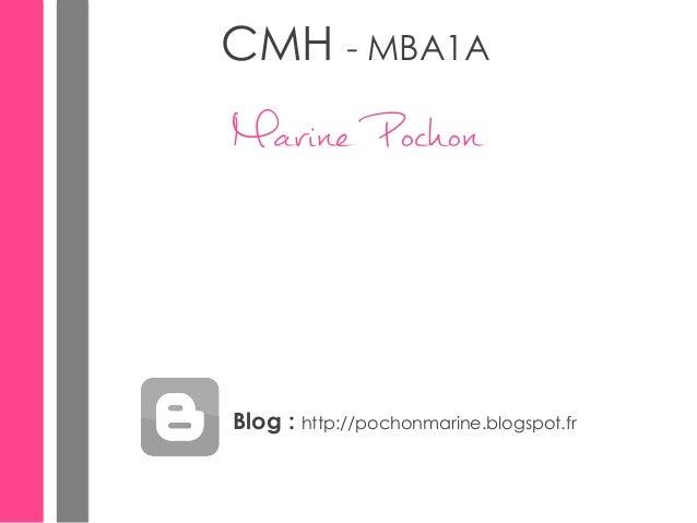 CMH - MBA1A  Marine Pochon  Blog : http://pochonmarine.blogspot.fr