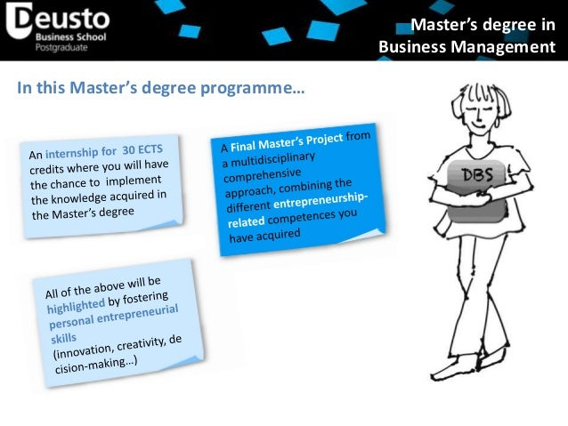 Official Master´s Degree in Business Administration ...