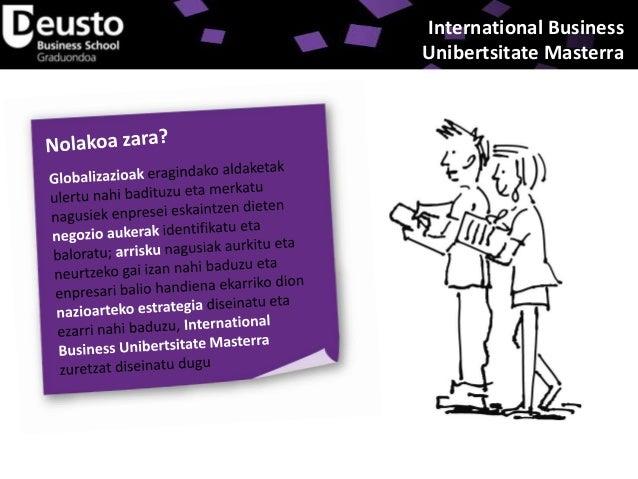 International Business Unibertsitate Masterra