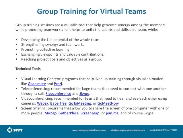 How to build and work with a virtual team