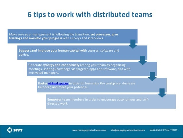 How to achieve a sustainable Virtual Team The biggest challenge that comes up in virtual teams is how to sustain your team...