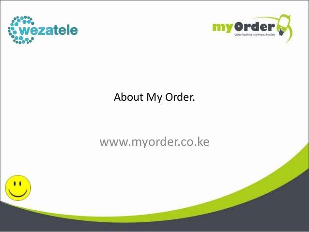 About My Order.www.myorder.co.ke