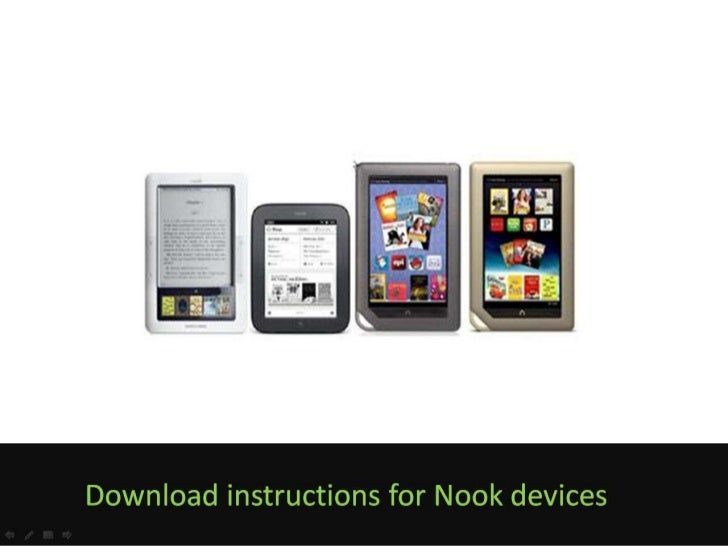 eBook download instructions for Nook devices