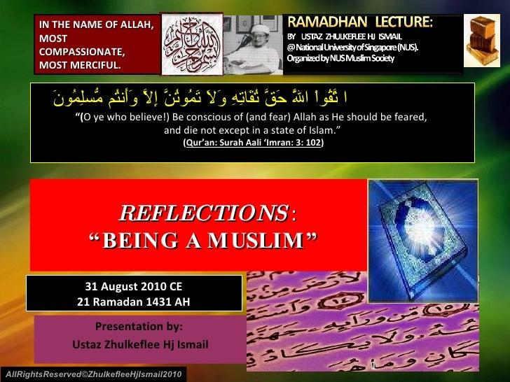 [Slideshare]nusms ramadhan tadzkirah2010