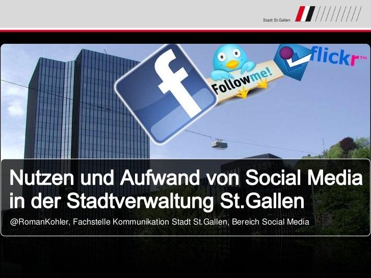 @RomanKohler, Fachstelle Kommunikation Stadt St.Gallen, Bereich Social Media