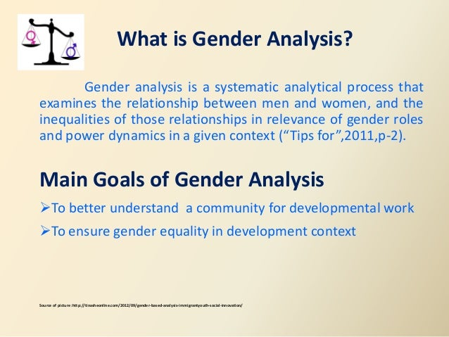 slide share on gender analysis 4 what is gender analysis