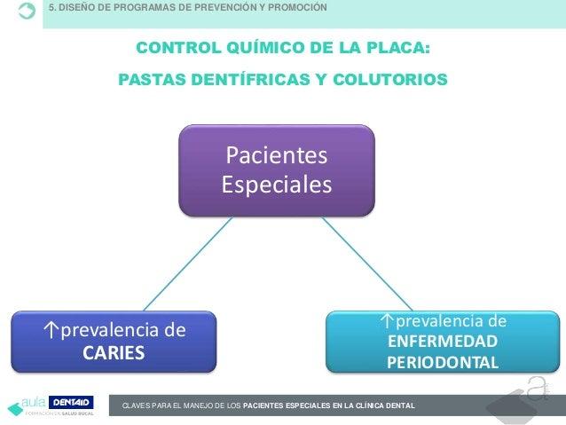 CLAVES PARA EL MANEJO DE LOS PACIENTES ESPECIALES EN LA CLÍNICA DENTAL CONTROL QUÍMICO DE LA PLACA: PASTAS DENTÍFRICAS Y C...