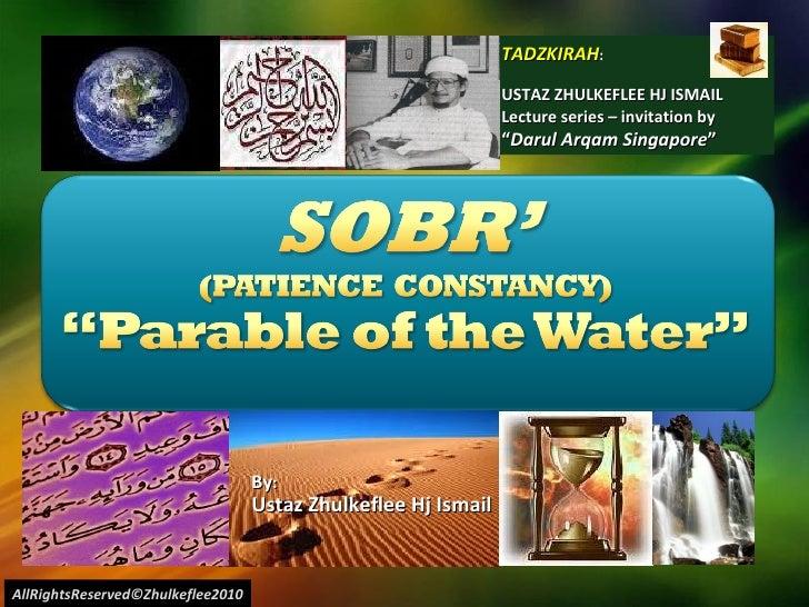 [Slideshare]parable water(sobr')
