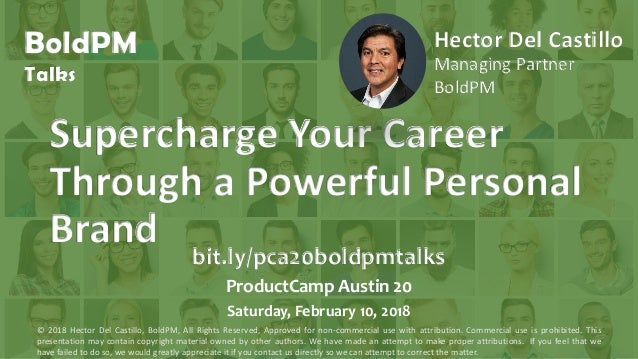 BoldPM Talks Supercharge Your Career Through a Powerful Personal Brand Hector Del Castillo Managing Partner BoldPM bit.ly/...