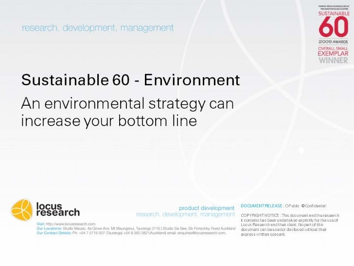 An Environmental Strategy can increase your bottom line