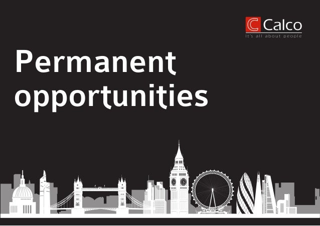 Permanent opportunities