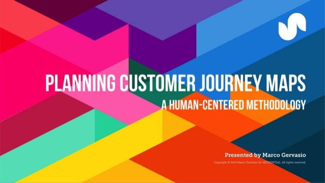 %  PLANNING OUSTOMER JOURNEY MAPS  HUMAN-CENTERED METHODOLOGY      Presented by Marco Gervasio ht © 2014 Marco Gervasxo [o...