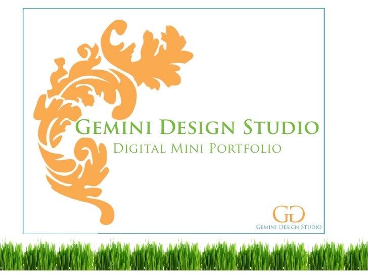 Gemini Design Studio    Digital Mini Portfolio