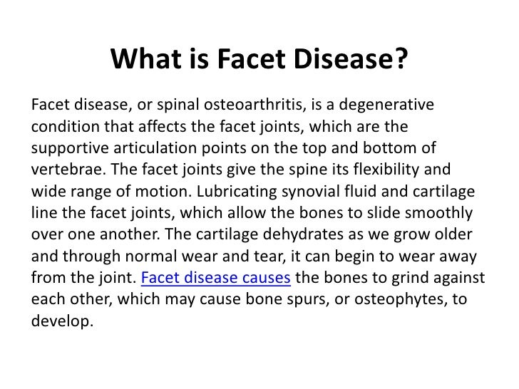 what is facet