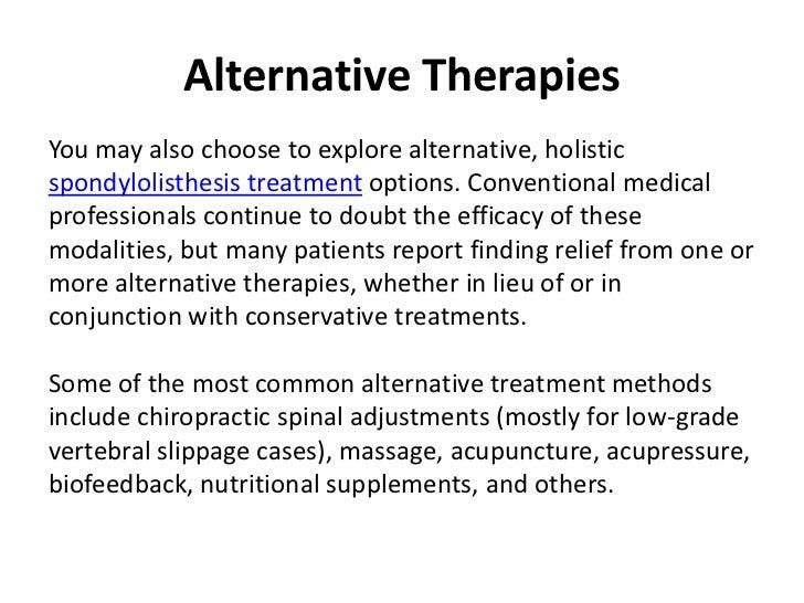 spondylolisthesis alternative treatment
