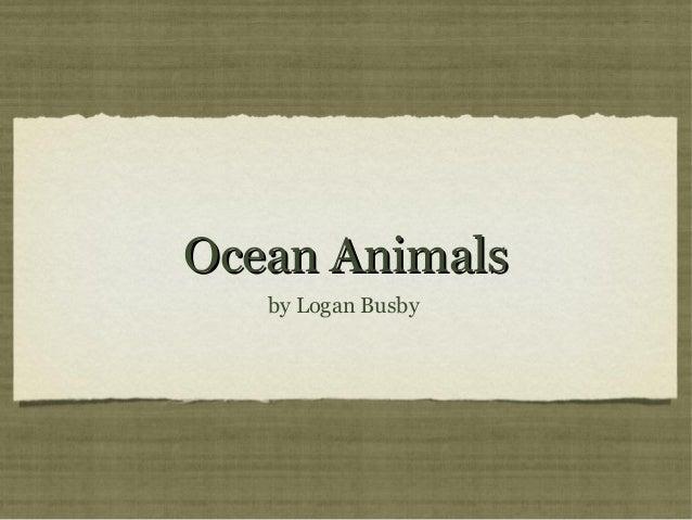 Ocean Animals by Logan Busby