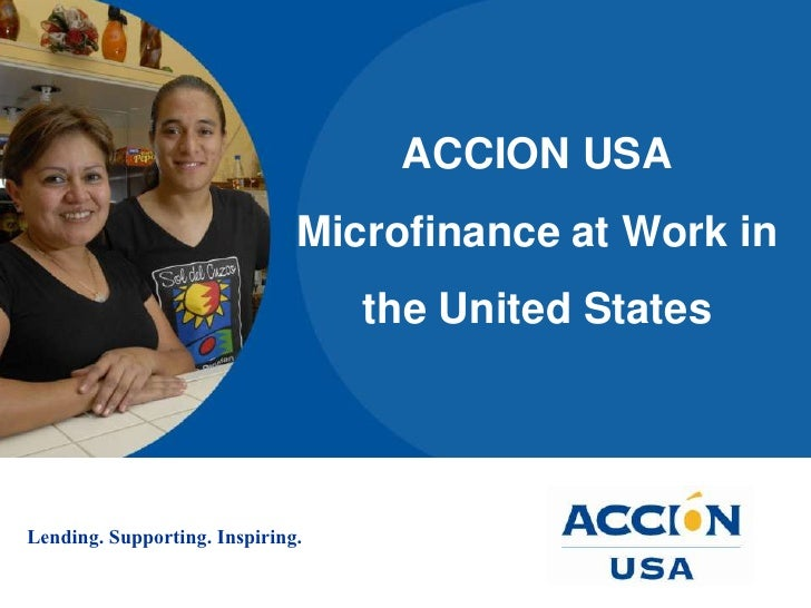 ACCION USA Microfinance at Work in the United States