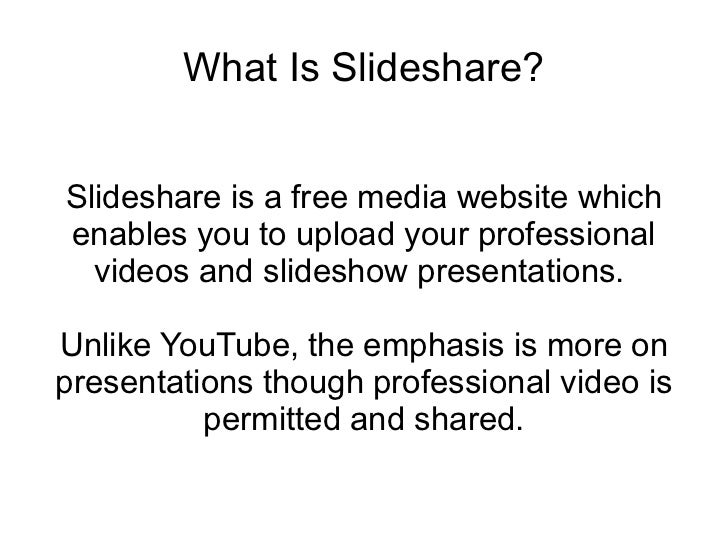 2 what is slideshare
