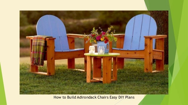 38 Diy Adirondack Chair Plans