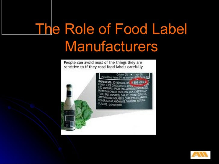 The Role of Food Label Manufacturers