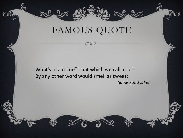 Shakespeare Romeo And Juliet Quotes Interesting English Literature