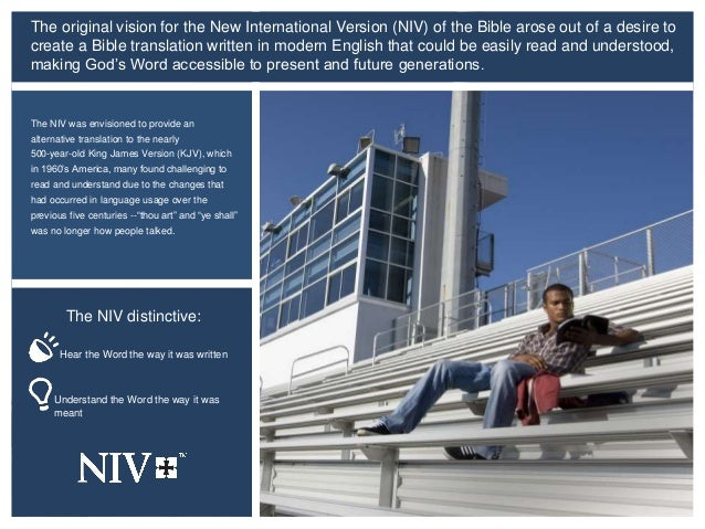 The NIV Bible - Making God's Word accessible to today's