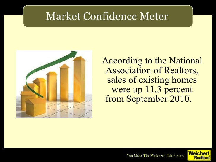<ul><li>According to the National Association of Realtors, sales of existing homes were up 11.3 percent from September 201...