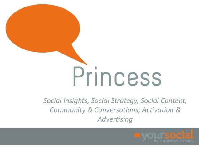 PrincessSocial Insights, Social Strategy, Social Content,  Community & Conversations, Activation &                   Adver...