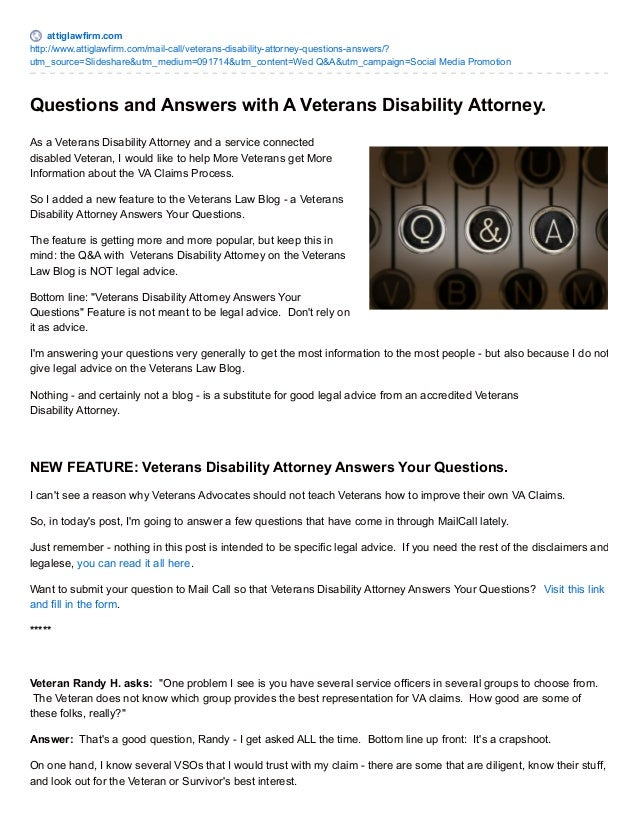 Can Disability Help Your Bottom Line >> Q A With A Veterans Disability Attorney